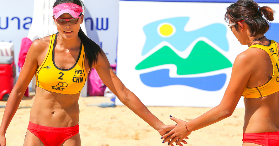 Beach Volleyball palayers from China