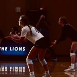 volleyball match in the hall