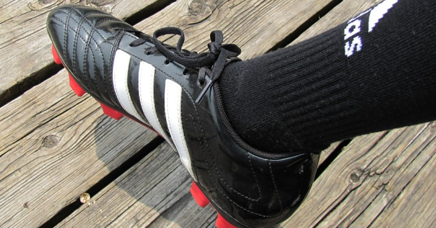 black soccer cleat
