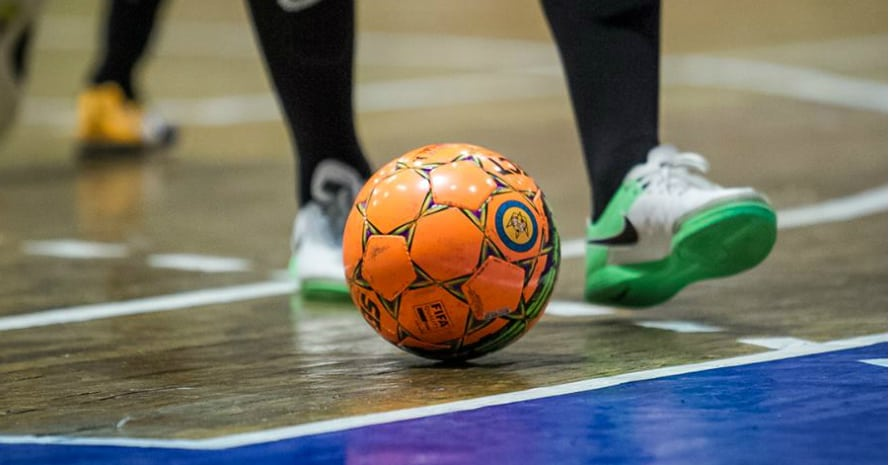 Ball and cops in futsal