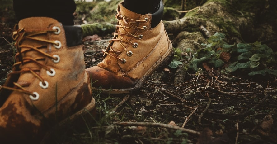 wet Hiking Boots